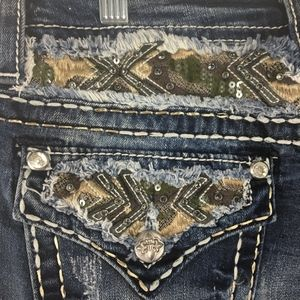 Miss Me Camo Embellished Bootcut Jeans Sz 28